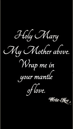 Holy Mary - Silk Blend Wrinkle Infinity Inspirational Scarf
