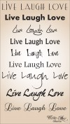 Live Laugh Love - Silky Soft Pashmina with Inspirational Message