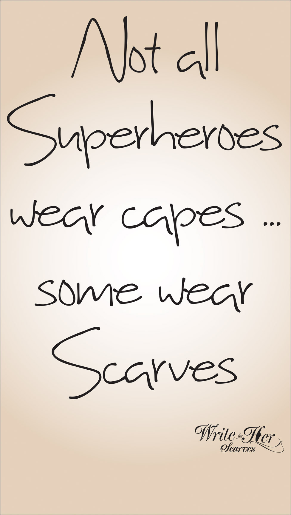 Superhero - Silky Soft Pashmina with Inspirational Message
