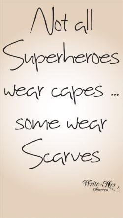 Superhero - Silky Soft Pashmina with Inspirational Message
